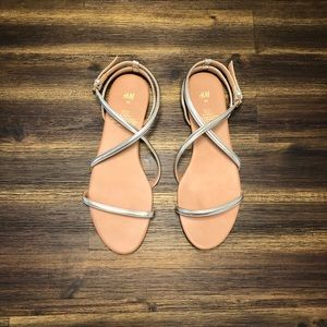 H&M Strappy Gold Sandals